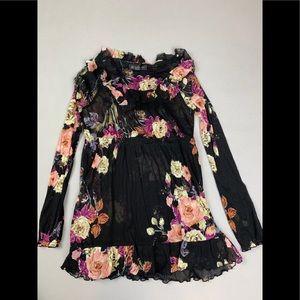 INC sheer floral shirt
